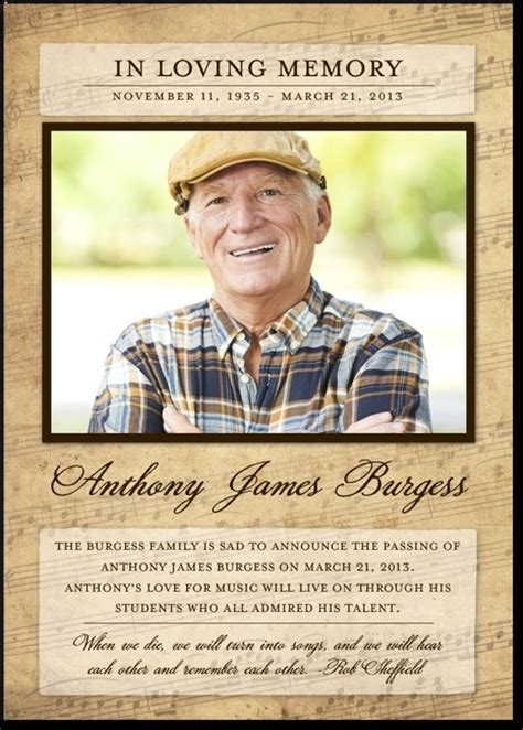 In Memory Cards Templates by 7 Best Images About Design Honor Remember On