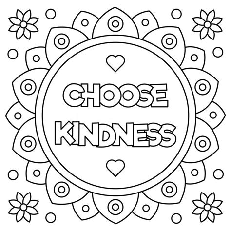 Coloring Pictures Of Kindness kindness coloring pages coloring page
