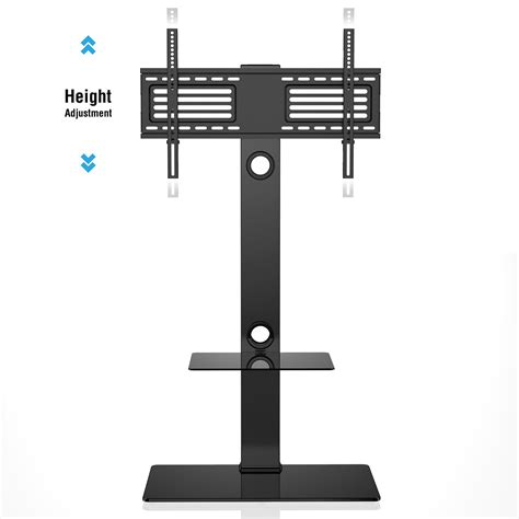 Samsung Tv Floor Stand With Shelf by Floor Tv Stand With Swivel Mount Component Shelf For 32 65