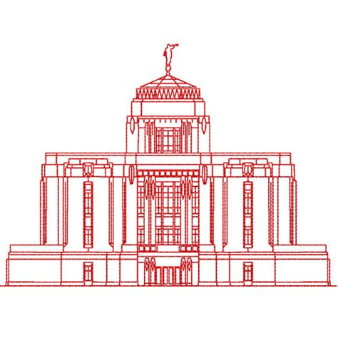 design embroidery boise meridian idaho lds temple redwork embroidery design digital