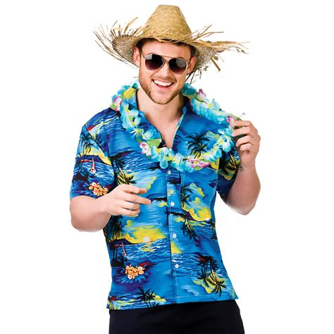 beach themed clothing party mens hawaiian fancy dress shirt beach luau aloha summer