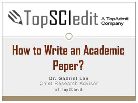 how to write a scholarly research paper how to write an academic research paper