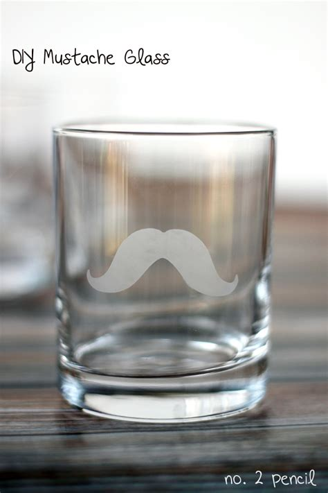 Diy Glasses diy mustache glass with martha stewart glass etching