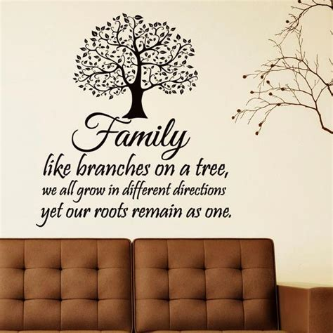 decorating a tree sayings family wall decal quotes family like branches on by fabwalldecals