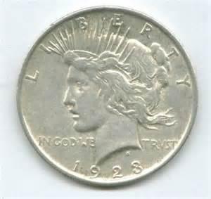 1923 peace silver dollar value