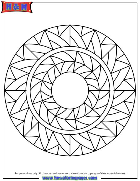 abstract art mandala coloring page h m coloring pages