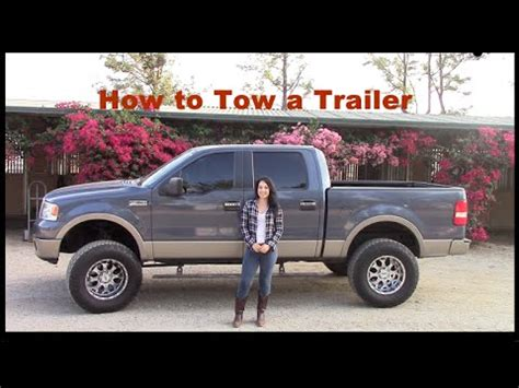 towing a trailer how to hook up truck to trailer