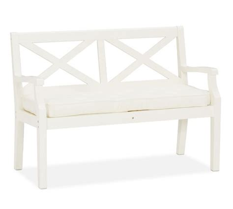 pottery barn white bench hstead painted porch bench white pottery barn