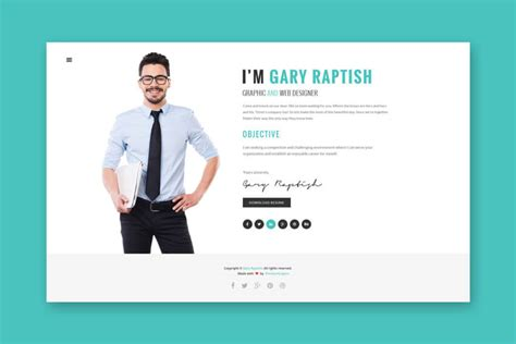 Cv Website by 5 Exles Of Beautiful Resume Cv Web Templates
