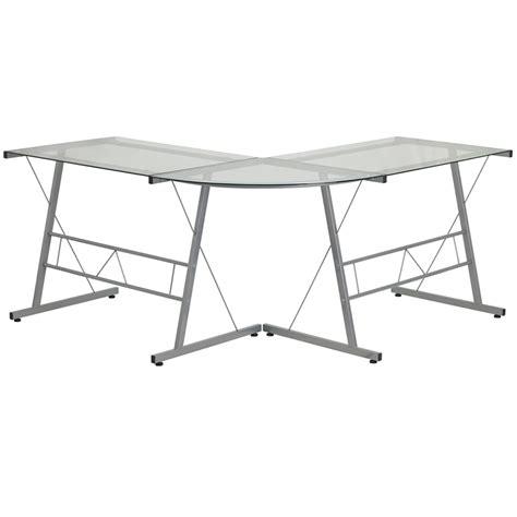 Flash Furniture Glass Computer Desk by Flash Furniture Outlet Glass L Shape Computer Desk With
