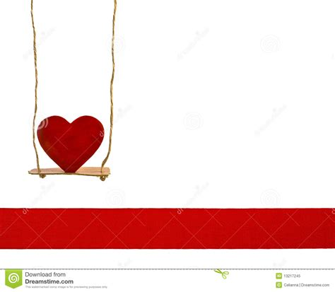 heart swing heart on a swing stock image image of ribbon playful