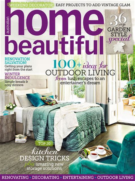 housebeautiful magazine joanie chachi home beautiful magazine front cover august issue