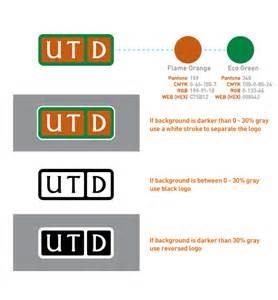 utd colors spacing utd logo brand standards the of