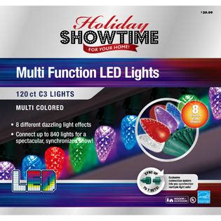 c3 led christmas lights holiday showtime 120ct led c3 christmas lights 8 lighting
