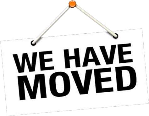 We Moved Sign Template We Have Moved