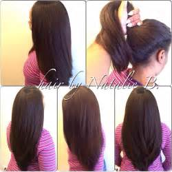 hair do with sew in weave with a part in the middle share