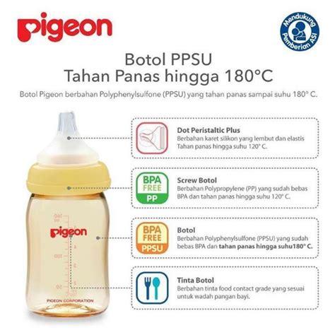 Pompa Asi Elektrik Bahan Silikon pigeon peristaltic plus nursing bottle ppsu pumpingasi