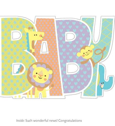 Baby Shower Greeting Card Baby Card Set Family