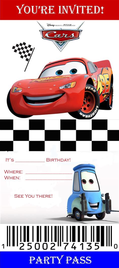 disney cars invitation templates downloadable birthday invites new designs