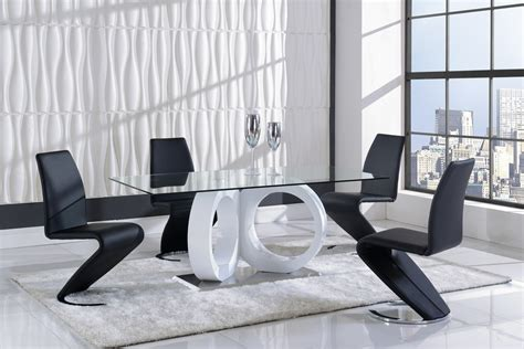 Global Furniture Dining Room Sets Global Furniture D9002 7 Dining Room Set In White Black By Family Services Uk