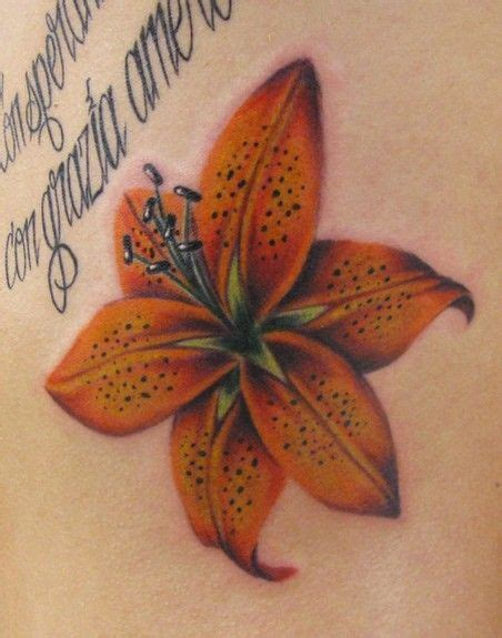 orange lily tattoo designs 25 best ideas about tiger tattoos on
