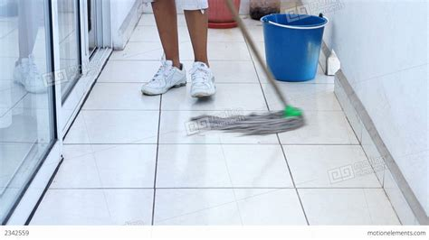 Mopping The Floor by Mopping The Floor Stock Footage 2342559