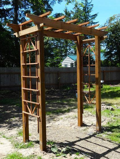 wood trellis plans diy arbor by meg padgett free plans for a gorgeous arbor