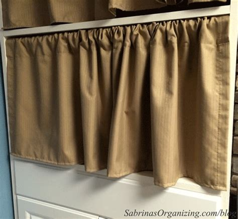 curtains for shelves 6 ways to hide clutter in your small home sabrina s