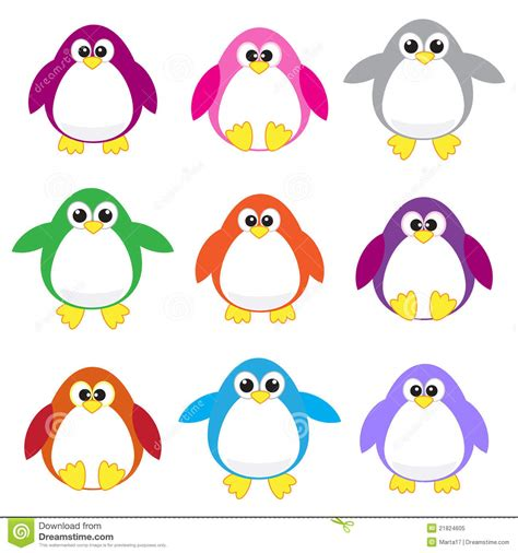 colorful penguins colors clipart penguin pencil and in color colors