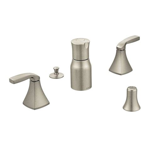 moen brushed nickel kitchen faucet moen voss 2 handle bidet faucet trim kit in brushed nickel valve not included t5269bn the