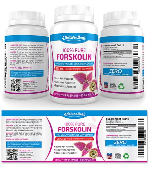 dietary supplement label template forskolin supplement label template