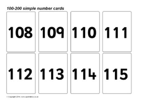 Printable Number Cards To 200 | numbers 1 100 printable worksheets releaseboard free