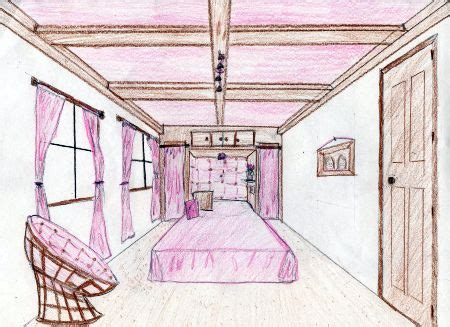 bedroom perspective students drew dreambedroom point perspective resesif
