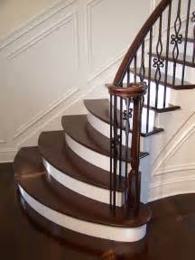 wooden stairs staircase gallery arrow millwork and cabinetry