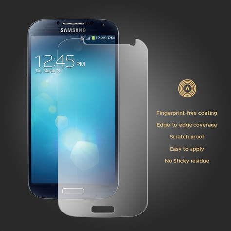 Screen Protector Samsung S4 Tempered Glass 1 aerios tempered glass screen protector samsung galaxy s4