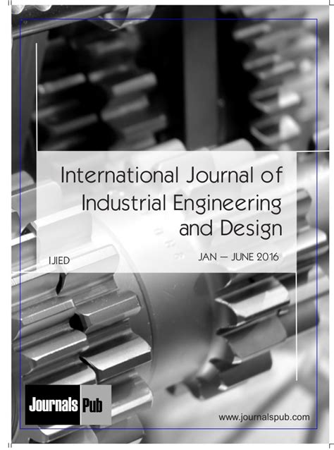design for manufacturing journal international journal of industrial engineering and design