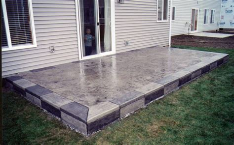 Backyard Concrete Slab Ideas Cement Patio Designs Images Outdoor Living Pinterest