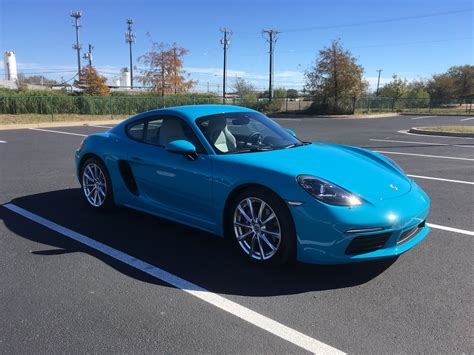 miami blue porsche 718 miami blue what wheels would you choose porsche 718 forum