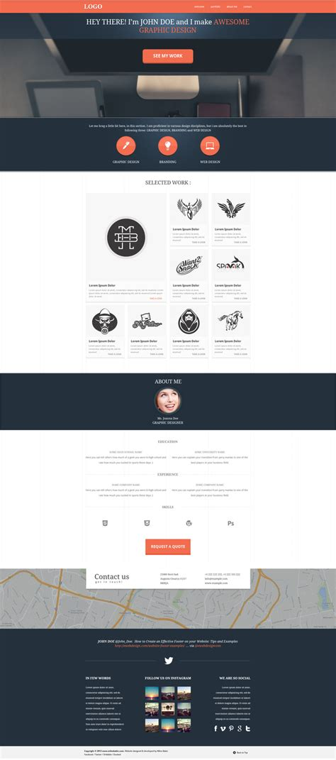 free one page website template 72pxdesigns