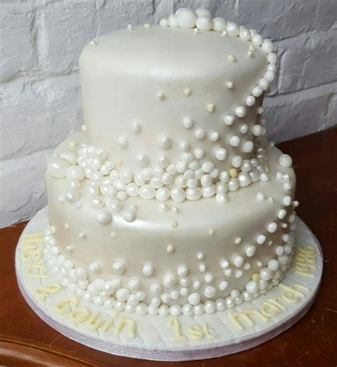 30th Pearl Wedding Anniversary cake www.chic dreams.co.uk