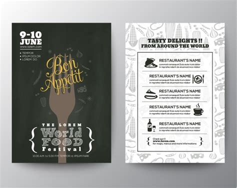 festival brochure template food festival brochure template vector free