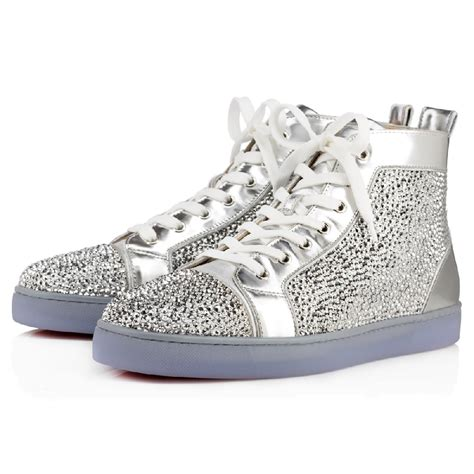 christian louboutins sneakers christian louboutin louis strass s sneakers version