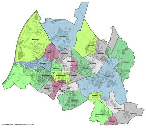 wohnungs suchen karlsruhe city districts