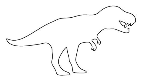 printable dinosaur stencils t rex pattern use the printable pattern for crafts
