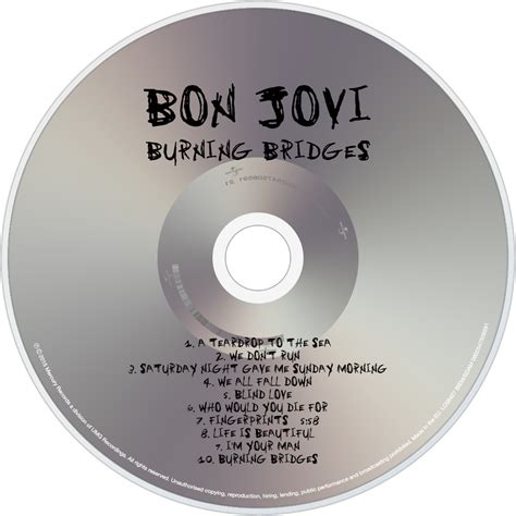 Cd Album Bon Jovi Burning Bridges bon jovi fanart fanart tv