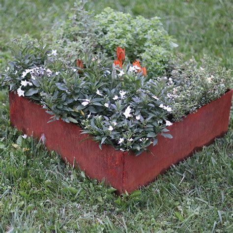 cornici quadrate kit cornici quadrate corten giardino my green help