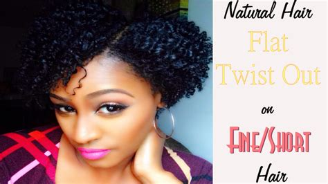 short haircuts for thin natural hair natural hair flat twist out on fine short hair youtube