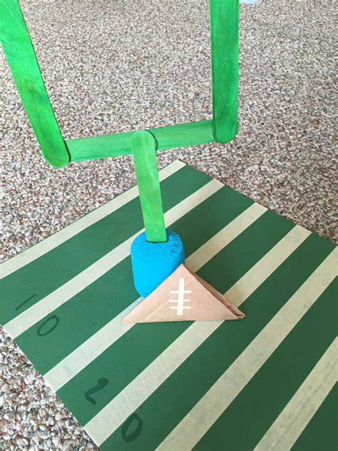 How To Make A Paper Football Field Goal - easy bowl activities for a