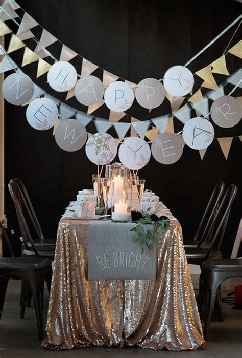 years eve decorating ideas pretty designs