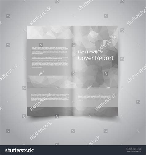 vector twofold brochure design template abstract stock